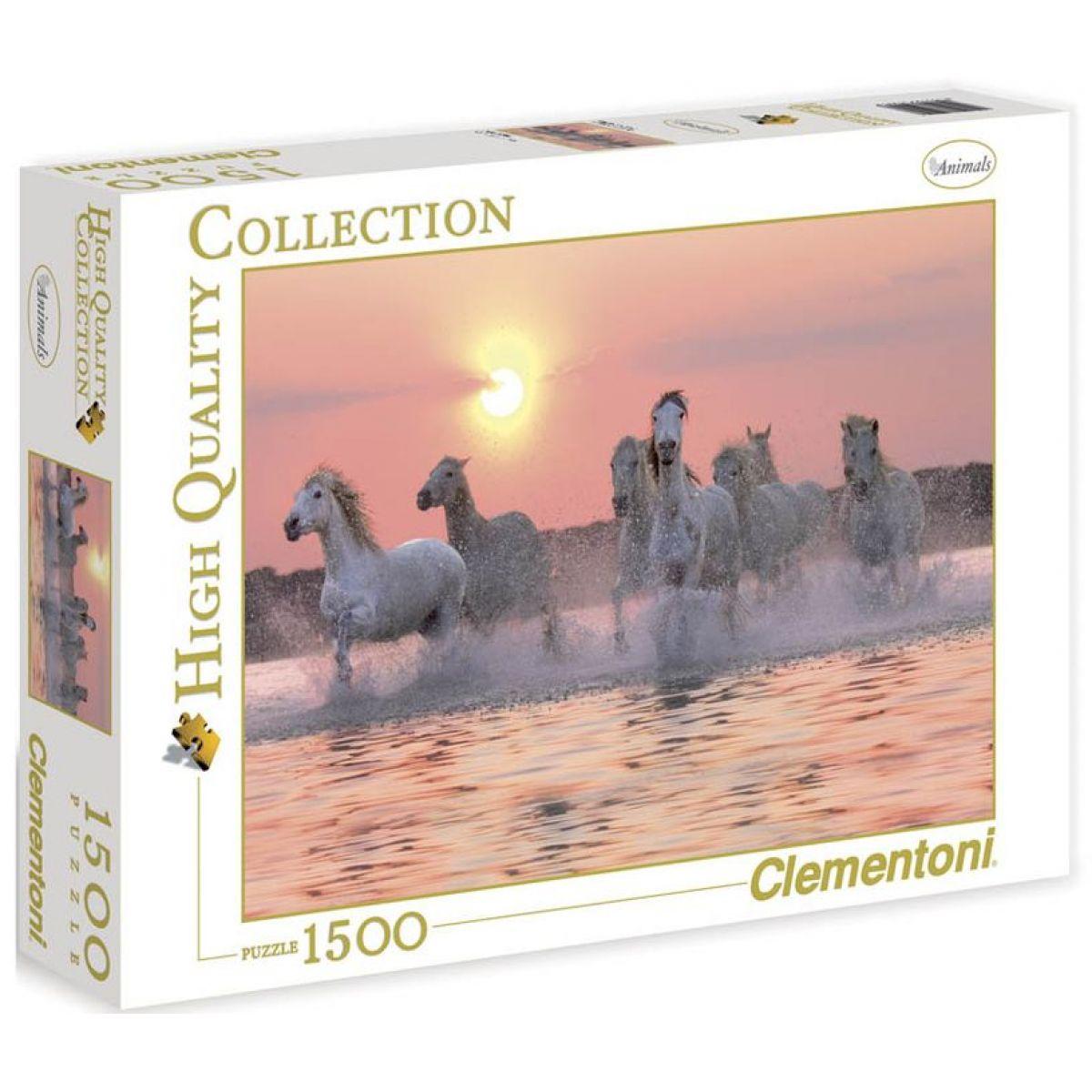 Clementoni 31991 - Puzzle 1500, Koně ve vodě