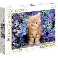 Clementoni Puzzle Kotě v květinách 500d