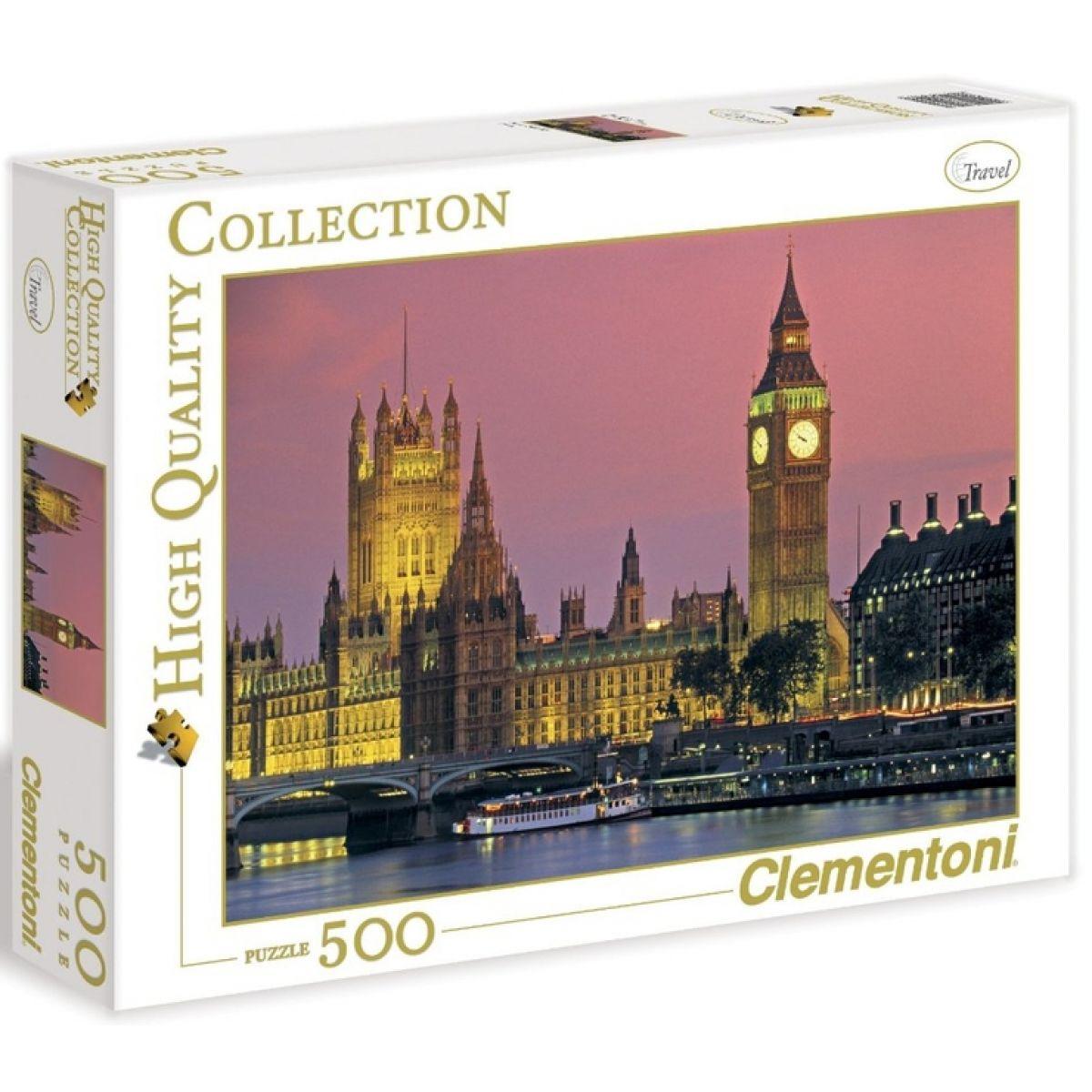 Clementoni 30378 - Puzzle 500, Večerní Londýn