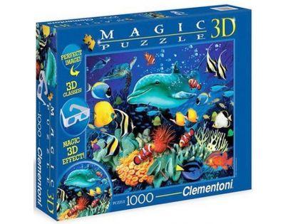 Clementoni Puzzle Magic 3D 1000 dílků Delfín