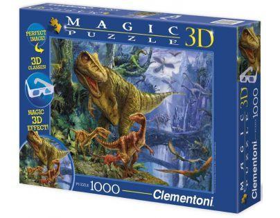 Clementoni 39261 - Puzzle Magic 3D 1000, Dinosaur Valley