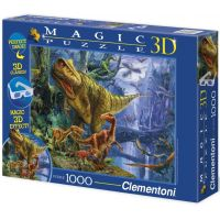 Clementoni 39261 - Puzzle Magic 3D 1000, Dinosaur Valley