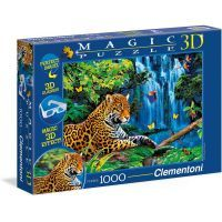 Clementoni Puzzle Magic 3D Jaguar Jungle 1000d