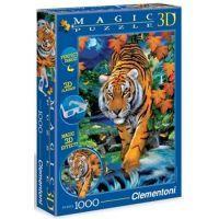 Clementoni 39185 - Puzzle Magic 3D 1000, Tygr