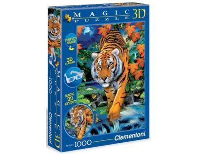 Clementoni Puzzle Magic 3D 1000 dílků Tygr