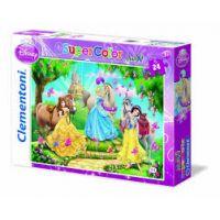 Clementoni Puzzle Maxi 24 dílků, Princezny