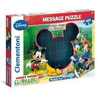 Clementoni Puzzle Message 104 dílků Mickey Mouse