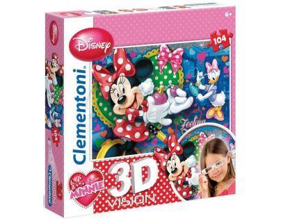 Clementoni 33C20081 - Puzzle 3D 104, Minnie