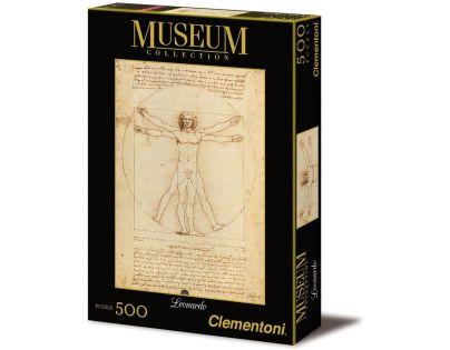 Clementoni Puzzle Museum Leonardo Uomo Vitruviano 500d