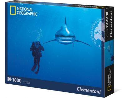 Clementoni Puzzle National Geographic Bílý žralok 1000d