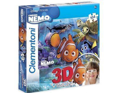 Clementoni 33C20071 - Puzzle 3D 104, Nemo