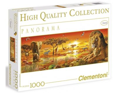 Clementoni 39259 - Puzzle Panorama 1000, Africká savana