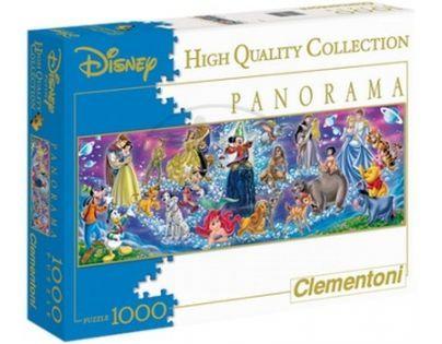 Clementoni 33C30784 - Puzzle Disney Panorama 1000,Disney rodina