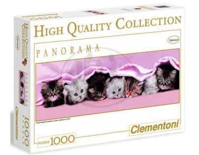 Clementoni 39127 - Puzzle Panorama 1000, Koťata