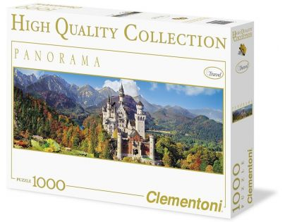 Clementoni Puzzle Panorama Neuschwanstein 1000 dílků
