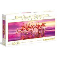 Clementoni Puzzle Plameňáci Panorama 1000 dílků