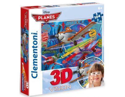 Clementoni 33C20085 - Puzzle 3D 104, Letadla