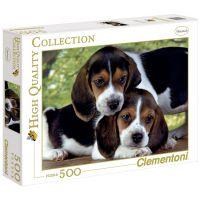 Clementoni Puzzle Štěňata Bígla 500 dílků
