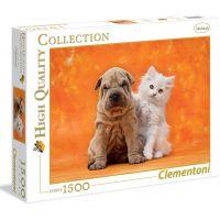 Clementoni Puzzle Štěně a kotě 1500 dílků