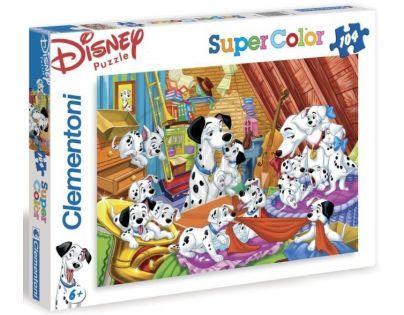 Clementoni 27478 - Puzzle Supercolor 104, 101 Dalmatinů