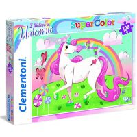 Clementoni Puzzle Supercolor 104 dílků Jednorožec
