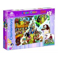 Clementoni Puzzle Supercolor 40 dílků, Sněhurka