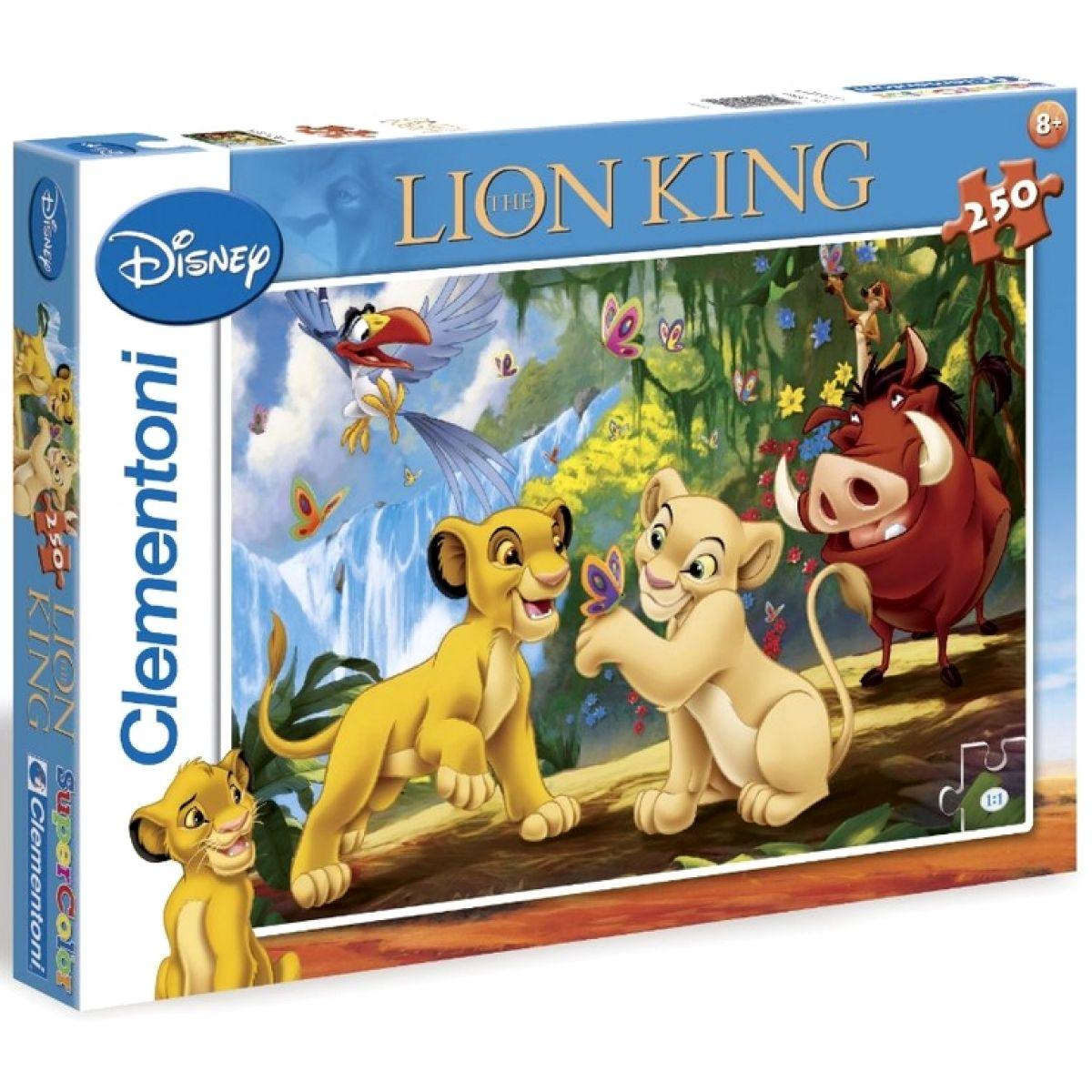 Clementoni 33C29530 - Puzzle Supercolor 250, Lví král