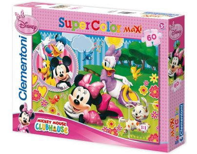 Clementoni 33C26738 - Puzzle Maxi 60, Minnie s Friends