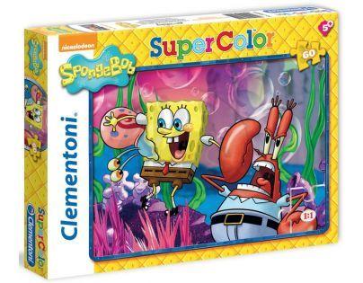 Clementoni 26905 - Puzzle Supercolor 60, Sponge Bob