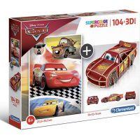 Clementoni Puzzle Supercolors 104 dílků 3D model Cars