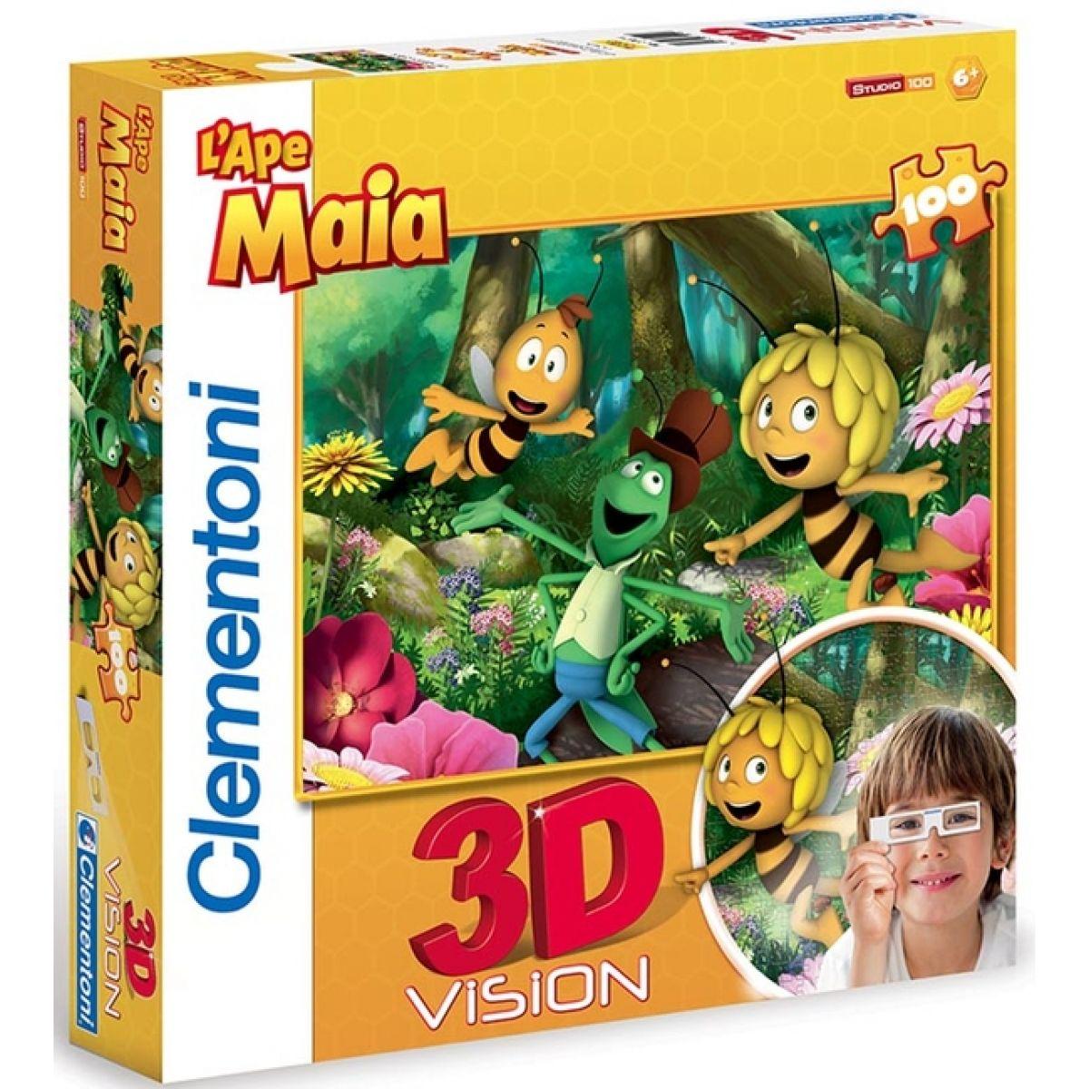 Clementoni 33C20074 - Puzzle 3D 104, Včelka Mája
