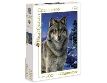 Clementoni 30386 - Puzzle 500, Vlk