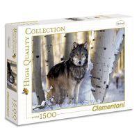Clementoni 31955 - Puzzle 1500, Vlk v zimě