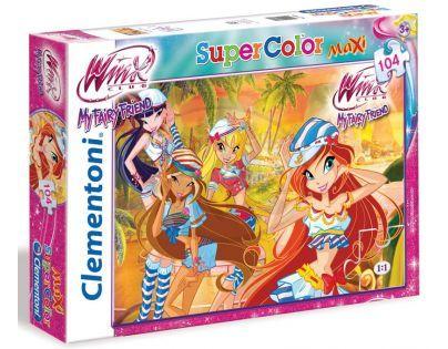 Clementoni 33C23648 - Puzzle Winx Maxi 104, Zářivá hvězda