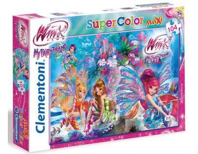 Clementoni 33C23647 - Puzzle Winx Maxi 104, Čas snění