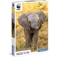 Clementoni Puzzle WWF Slůně 104 dílků