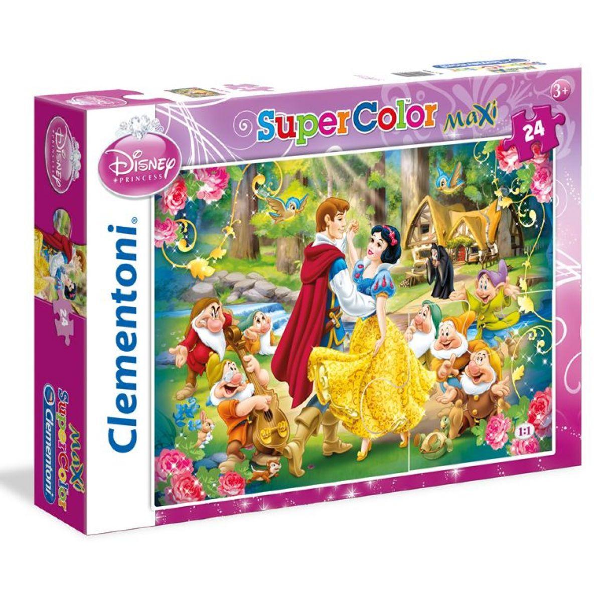 Clementoni Sněhurka Supercolor Maxi Puzzle 24 dílky