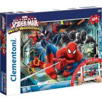 Clementoni Spider-man Puzzle Supercolor App 104 dílků
