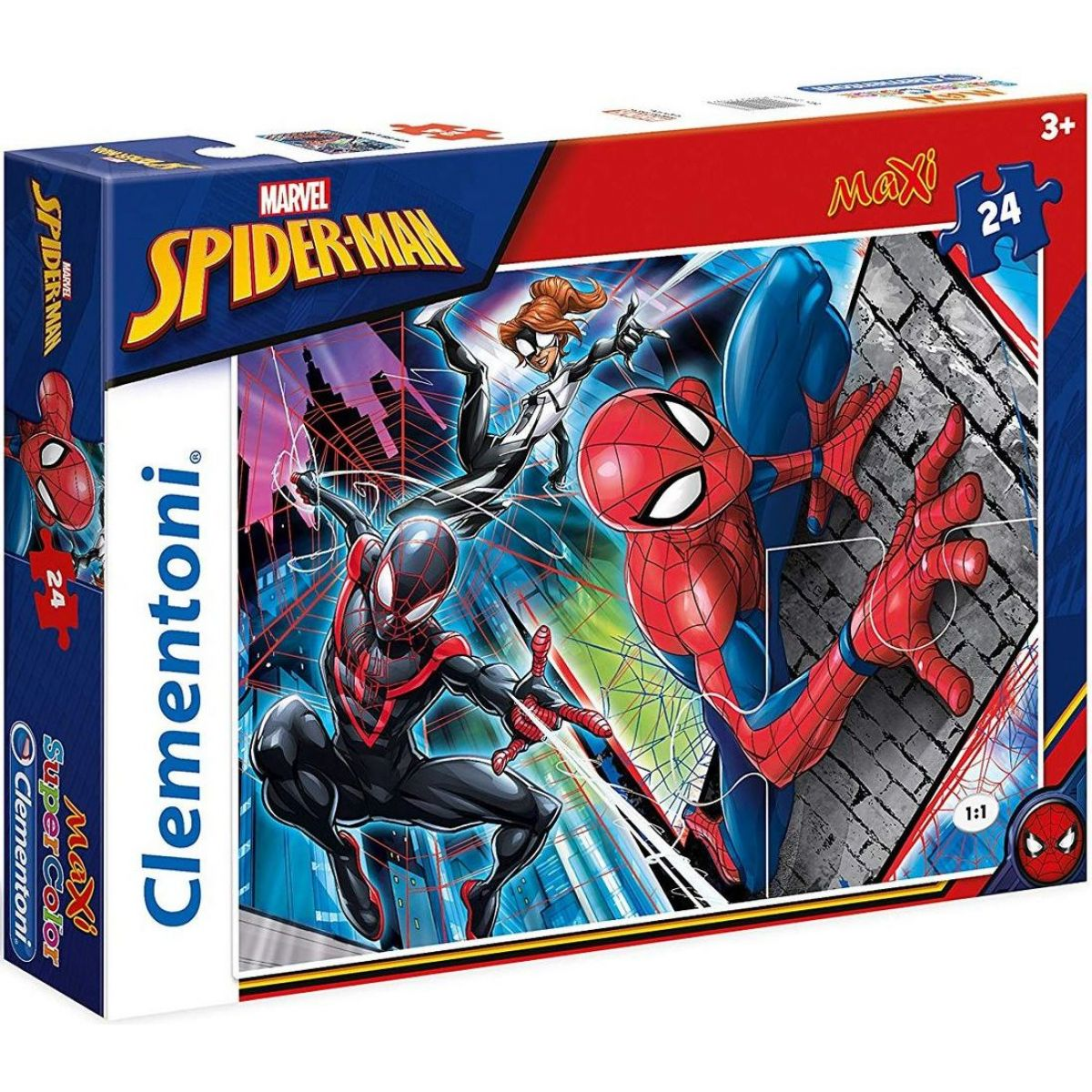 Clementoni Spiderman Supercolor Puzzle Maxi 24 dílků