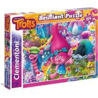 Clementoni Trollové Briliant Puzzle 104 dílků