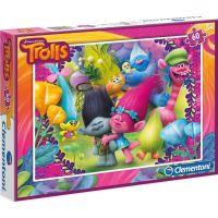 Clementoni Trollové Puzzle 60 dílků