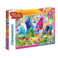 Clementoni Trollové Supercolor Puzzle 104 dílků