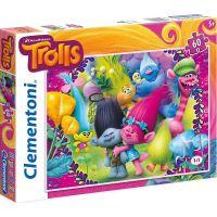 Clementoni Trollové Supercolor Puzzle 60 dílků
