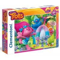 Clementoni Trollové Supercolor Puzzle Maxi 104 dílků