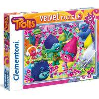 Clementoni Trollové Velvet Puzzle 60 dílků