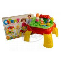 Clemmy baby Hrací stolek s kostkami a zvířátky