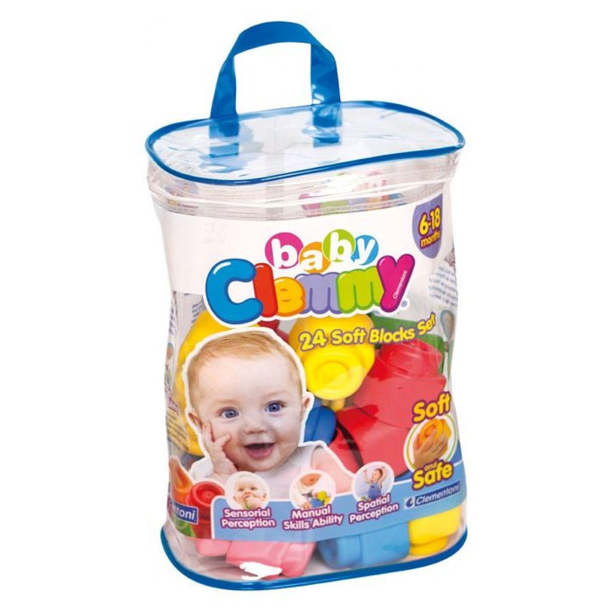 Clemmy baby 14889 - 24 kostek v plastovém pytli