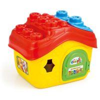 Clemmy Baby Kyblík domeček s otevírací střechou a 15 kostičkami 2