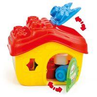 Clemmy Baby Kyblík domeček s otevírací střechou a 15 kostičkami 3