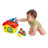 Clemmy Baby Kyblík domeček s otevírací střechou a 15 kostičkami 5